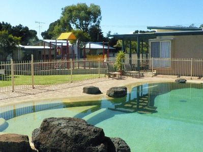 In ground solar heated pool