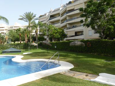 Photo for 3rd Floor Flat with WiFi, Lift, Secure Communal Pools and Gardens. 80sq m
