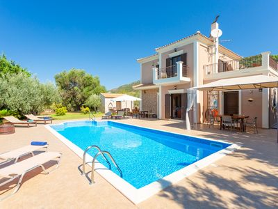 Photo for Villa Eufrosini: Large Private Pool, Walk to Beach, Sea Views, A/C, WiFi, Car Not Required