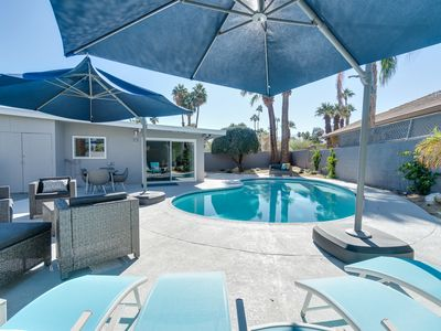 Photo for Stylish 3BR w/ Large Private Pool, Covered Patio, Grill & Mountain Views