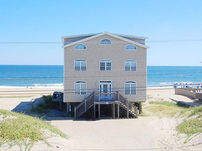 Photo for Beachfront, INDOOR POOL, 10br,7ba,gameroom,sleeps 28