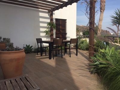 Photo for Frontline apartment with garden on Playa Macenas Development Ref VFT/AL/03358