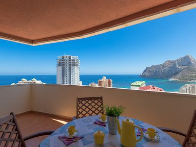 Photo for CORAL BEACH, Coral Beach apartment with panoramic views in Calpe free wifi