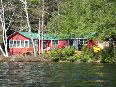 Photo for Sylvan Lodge  A secluded lake front family cabin in the Adirondack Mountains
