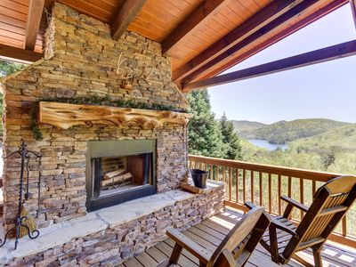 Photo for Spacious, mountain home w/ a private hot tub, game room, & outdoor seating areas