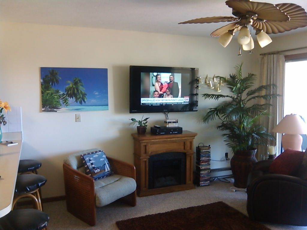 The shores caribbean style resort on the shores of lake erie port clinton condo rental 50 inch tv and electric fireplace in living room mozeypictures Image collections