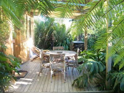 outside patio from spa