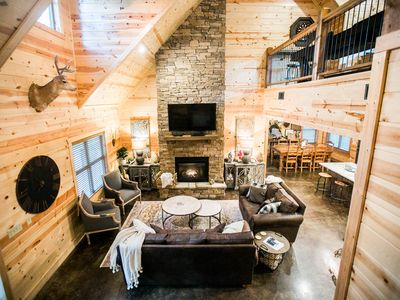 Photo for HochaHoma Luxury Cabin -  4 BR; 3Bth, Game Room, Hot Tub, Fire Pit