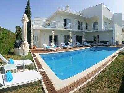 Photo for Luxury Villa with sea view rooftop & swimming pool at 900m from the beach
