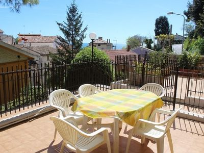 Photo for Two-room apartment just 150 m from the beaches, with a sea view terrace