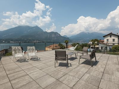 Photo for Mira apartment in Bellagio with WiFi, integrated air conditioning, private parking, private roof te…