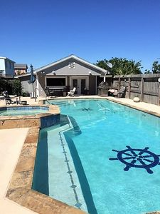 Photo for Beach House with Gorgeous Swimming Pool. 3 bedrooms sleeps 8.