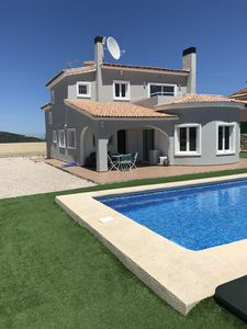 Photo for Modern Villa with great views, south facing with swimming Pool AC and fibre