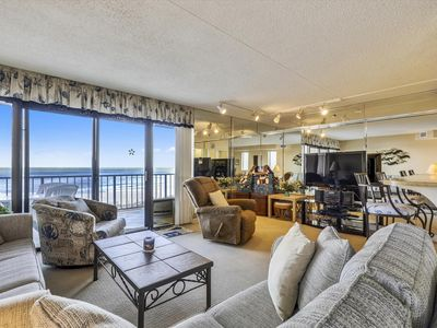 Photo for FREE DAILY ACTIVITIES!!! Oceanfront end unit with beautiful view of the ocean. Nicely furnished thru out with a king size bed in the master bedroom