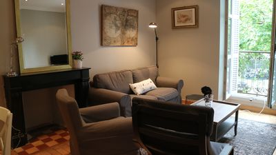 Photo for Nice cozy 74m2 apartment, 4 people, Dijon center.