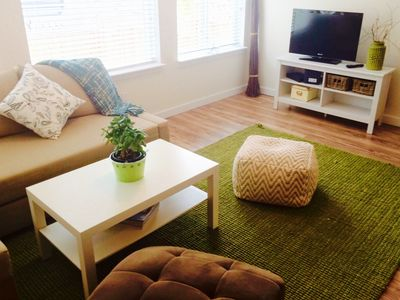 Photo for Modern, bright and spacious one bedroom suite (sleeps 4)