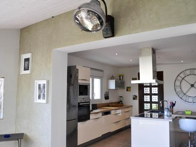 Photo for 4 bedroom house with private pool and magnificent views of the Cevennes