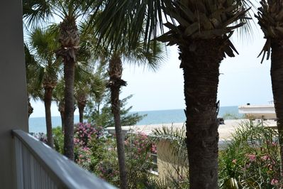 View from our deck with peek-a-boo Gulf views.