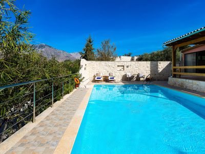 Photo for Villa Artemis! 50m2 pool! Ideal for couples & small families! Walking to taverna