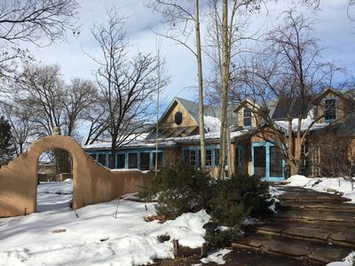 Photo for An Elegant Taos Adobe under the Trees