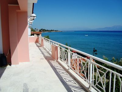 Photo for Stunning Beachfront Villa on the Gulf of Corinth