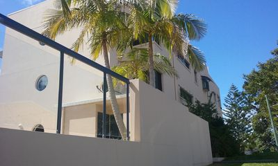 Oceanview 6 apartment is at top on this side overlooking river,  pine tree end