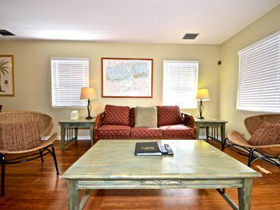 Photo for Dog-friendly condo w/ private hot tub & shared pool - close to shops & beaches
