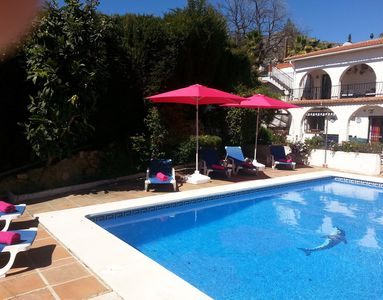 Photo for beautiful Villa 4 bed/bath   free heated pool October & Nov,Dec ,free fast WiFi