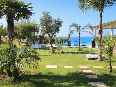 Photo for Modern Villa with Private Golf Practice, Pool, Garden, Terrace, Wi-Fi, Sea View