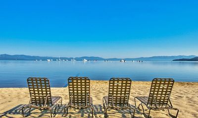 Photo for New lower pricing! Tahoe Beach and Ski Club - lakefront studio on private beach