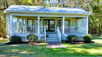 Photo for Marsh-view Cottage in the Woods: surrounded by majestic oaks, birdsong & marsh!