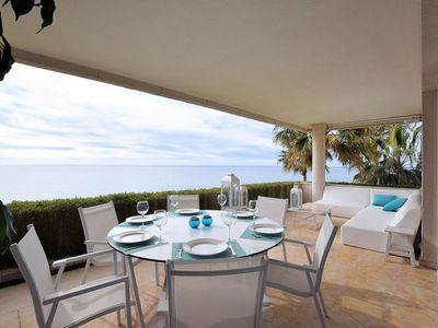 Photo for Luxury apartment front line at the sea on Los Granados Playa, Estepona