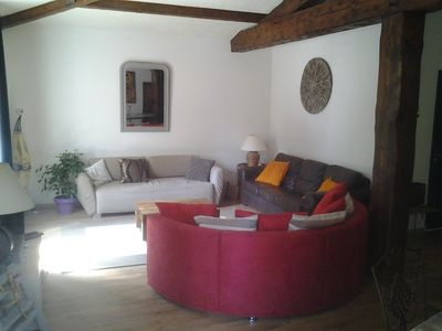 Photo for HOUSE 8 pers (130 m2 / 5000 m2 land) air-conditioned, quiet, river edge