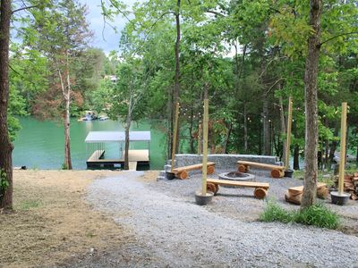 Photo for New rustic 5 BR lake house with dock