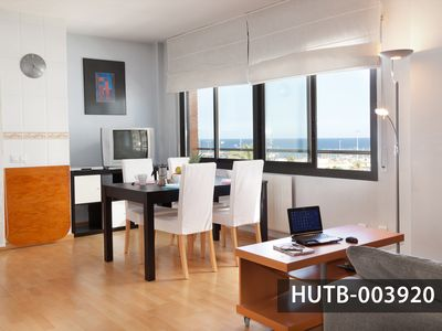Photo for Cheerful Apartment with fascinating Views to Barcelona's Beaches