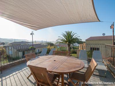 "Photo for Very nice apartment ""Hortensia"" 4-6 persons, air conditioned, terrace with view,bbq"