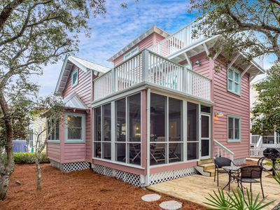 """Photo for In Seaside Proper """"Persuasion"""" Steps to Beach, 3BR, Sleeps 6, Tower Views!"""