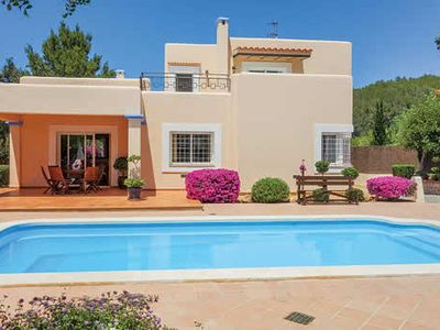 Photo for Spacious villa w/ pool + BBQ house, walking distance from village