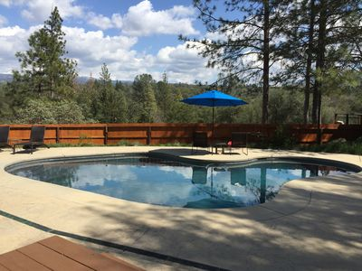 Photo for Modern Cabin with Pool Privacy and Views Near Yosemite & Lake  Pet friendly