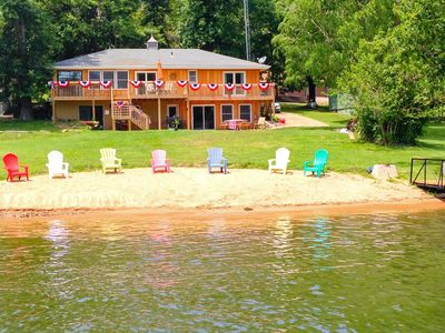 Photo for Amazing House Private Beach & Dock, Game Room, No Wake, Next To Captain Rons