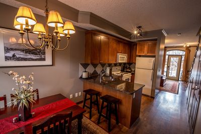 You will love the full kitchen and comfy sitting area.