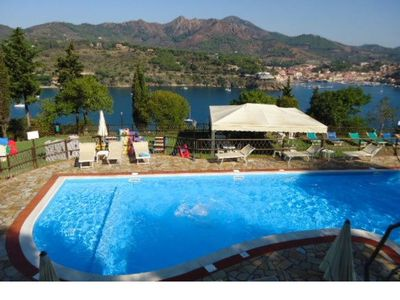 Photo for Studio apartment situated inside the Verde-blu residence, for 4 people, sq.m 34 , with terrace, pool