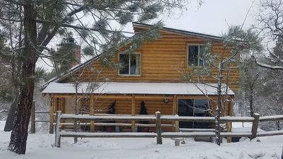 Photo for Quiet Updated Moonridge Cabin w/ View, Firepit BBQ WiFi SmartTVs 2bdrm +Sofa Bed