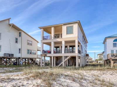 Photo for Family-friendly Gulf-front home w/ decks, views & direct beach access!