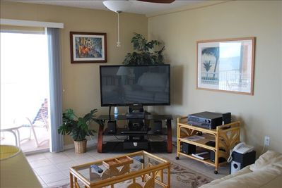 """Enjoy watching TV our your favorite movie on a 51"""" Plasma Flat Screen"""