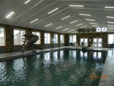 Photo for INDOOR POOL! BREATHTAKING VIEW! HOT TUB, FIREPLACE, FIRE PIT!  Chatt TN 21 miles