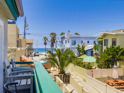 Photo for Family Beach Home w/ Private Front Patio, AC, BBQ, 2 Parking!