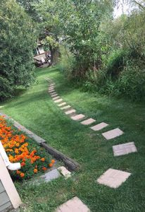 The walk to the cabin sets the mood - you are in your own private retreat