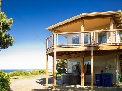 Photo for Stunning views and sunsets from this beach house located in Beverly Beach
