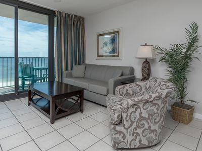 Photo for HOTEL SUITE on the BEACH in Gulf Shores! KITCHEN & LIVING ROOM!